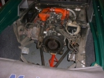 Lotus Esprit typical clutch replacement - removing gear box to inspect fly wheels and fit clutches